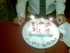 昨日はスタッフの誕生日で男だけのパーティーを開催