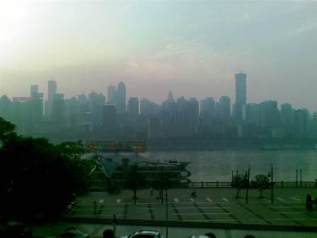 重慶の夕焼けっていつも霧っぽいです
