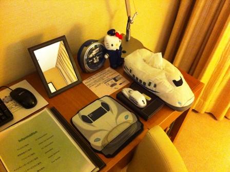 品川のホテルの新幹線ルームに泊まりました